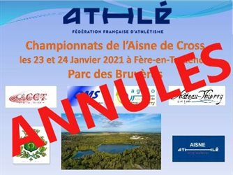 Annulation des Championnats de l'Aisne de cross-country